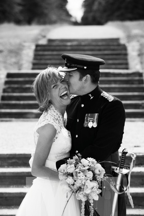 Military wedding at Dumbleton Hall near Evesham Worcestershire