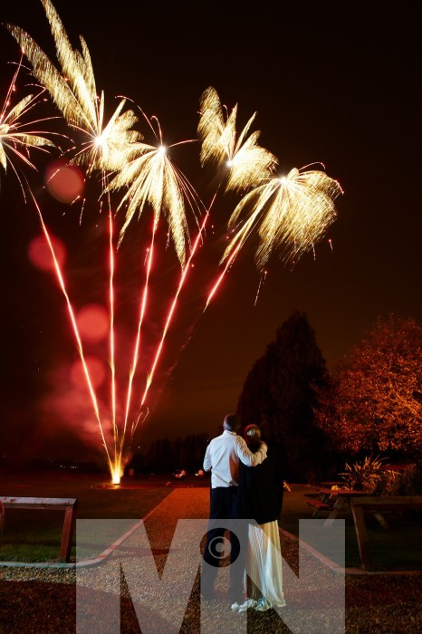wedding fireworks at The Manor House Quorn Leicestershire