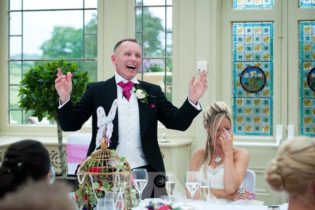 The grooms speech at his wedding at Kilworth House Hotel North Kilworth near Lutterworth Leicestershire