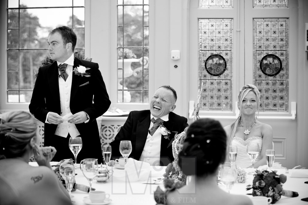 The best mans speech at Kilworth House Hotel North Kilworth near Lutterworth Leicestershire