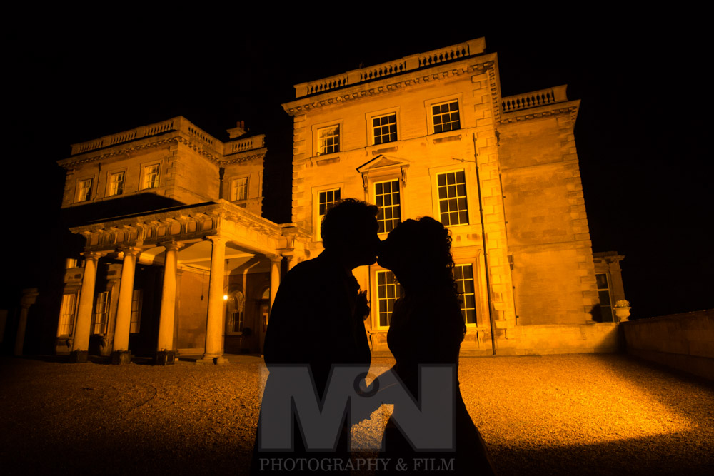 Night wedding photos at Prestwold Hall Prestwold near Loughborough Leicestershire